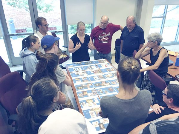 Submitted Photo: Shakespeare on the Lake is a collaboration project between two Fredonia Technology Incubator businesses: Venture Productions and The Playground Academy. Pictured are participants preparing at the Fredonia Technology Incubator.