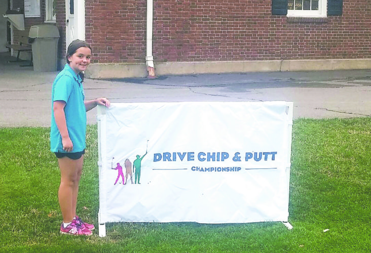 Submitted Photo: Jocelyn Wintersteen had an exciting day at Brierwood C.C. in Hamburg on Thursday. During the Drive, Chip, and Putt competition, Wintersteen placed  second overall and also second in putting for the 7-9-year-old girls' division. She now advances to the next round at the Turning Stone Resort in Verona in August.
