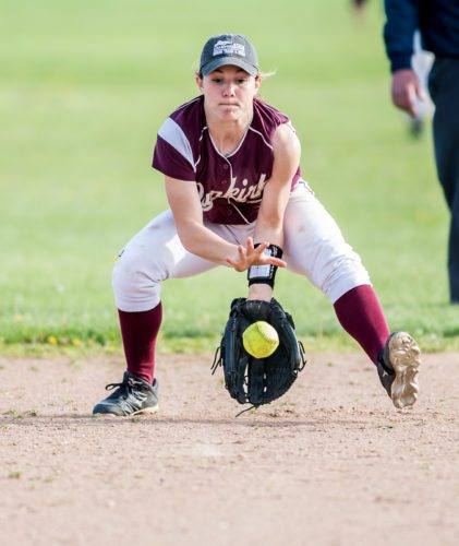OBSERVER File Photos Pictured at left is Dunkirk shortstop Emilee Hanlon. At right is Fredonia's Hannah Cybart. Both were named to the 2017 All-Western New York softball teams.