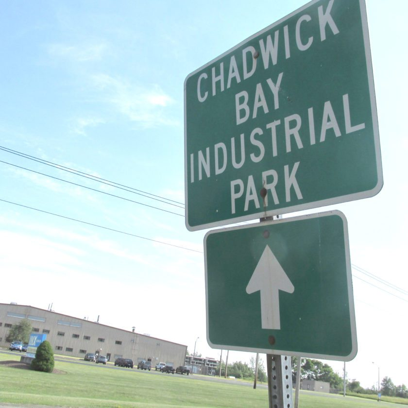OBSERVER Photo by Damian Sebouhian. At Chadwick Bay Industrial Park in Sheridan, three parcels are up for sale.