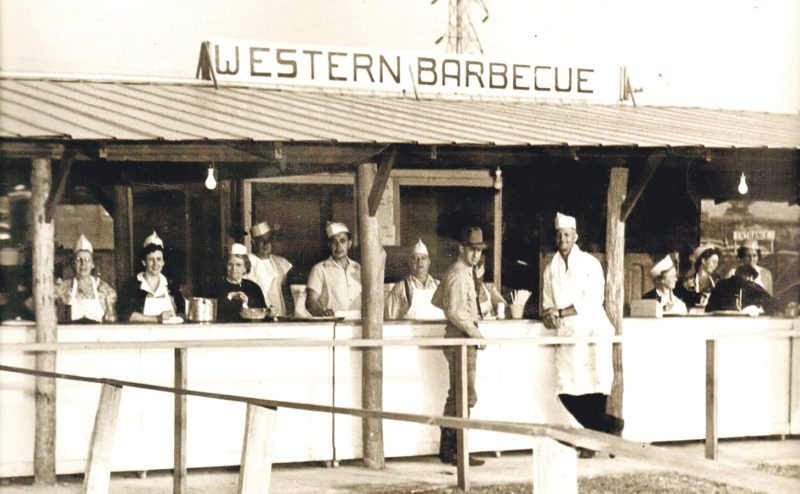 Submitted Photo This photo, from the 6th annual Gerry Rodeo in 1951 shows that the times may have changed, but the tradition rodeo barbeque dinners still carries on.