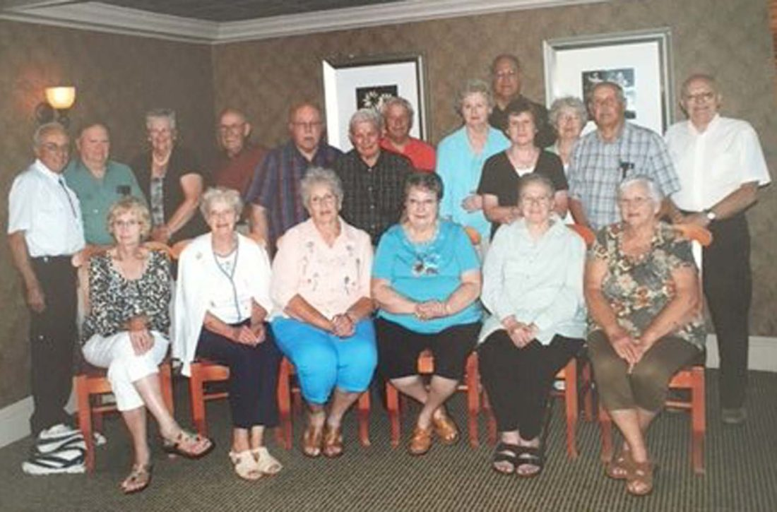 Submitted Photo: Cassadaga Valley Central School Class of 1955 recently met at Alfie's Restaurant on July 15 for its 62nd Reunion. The class has met every five years until their 50th, and since then has met every year. Ray Bulger, class president, sends notices each year to class members and keeps track of them. The class hopes to continue to meet as long as possible.
