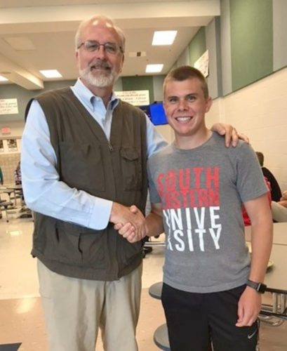Submitted Photo: Mark Parson is pictured with CLCS student Joey Parker.