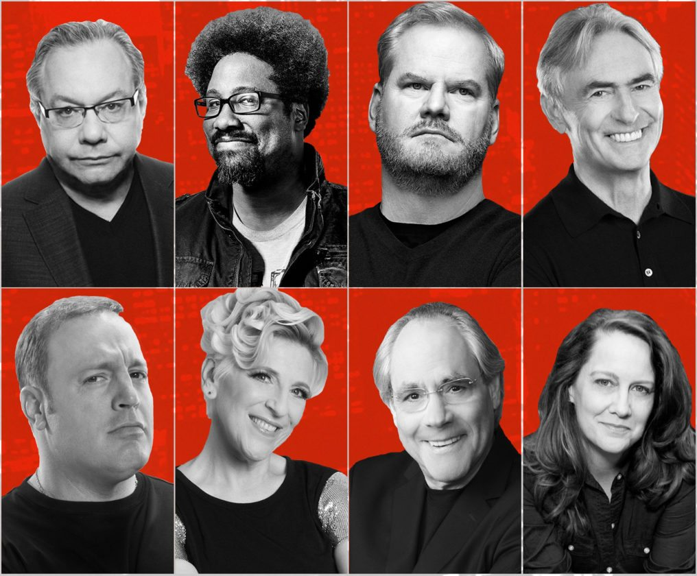 Submitted Photo (Top Left to Right): Lewis Black, W. Kamau Bell, Jim Gaffigan, David Steinberg, Kevin James, Lisa Lampanelli, Robert Klein, Kelly Carlin