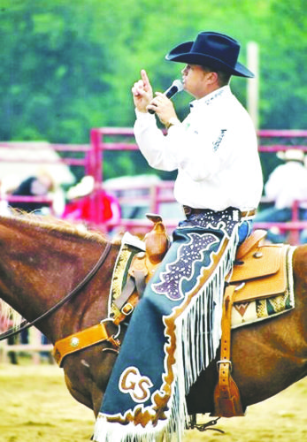 Submitted Photo: Greg Simas, one of pro rodeo's top announcers, is returning to emcee the 73rd annual Gerry Rodeo.