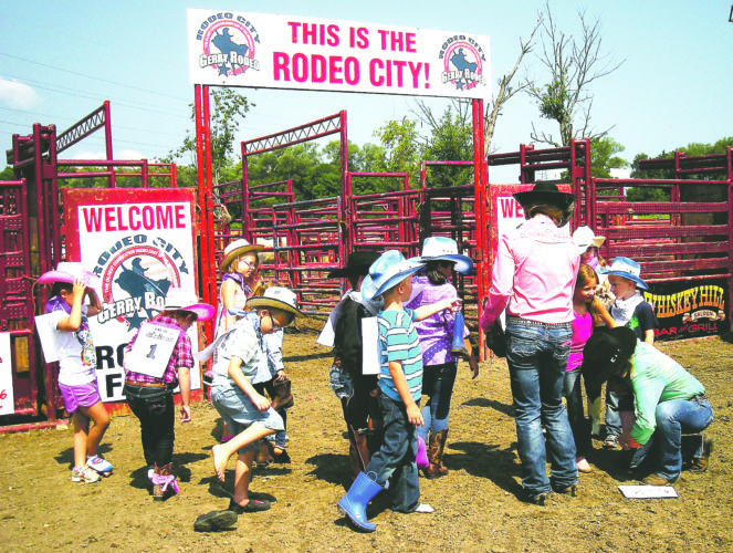 Submitted Photo Kids can become cowboys and cowgirls for an afternoon in the arena at the free kids' rodeo event this Saturday at 4 p.m. in Gerry.