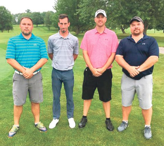 Submitted Photo Above are the overall champions and runners-up from Chautauqua Golf Club's Member-Guest. From the left are Shawn Fadale and Matt Cestari, who comprised the winning team; and Jason Anderson and Jamie Paterniti, who finished second.