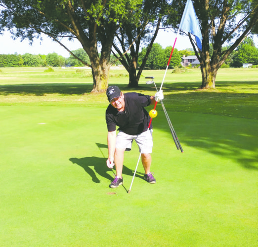 Submitted photo: Bob Welch got a hole-in-one at the Vineyards Golf Course on the 185-yard No. 5 using a 5-iron. He was playing with Chuck Allesi, Phil Kleeberger and Bob Tripp.