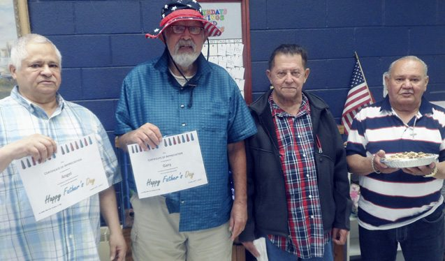 Submitted Photo: Pictured are participants in the Dunkirk Adult Day Care Center Father's Day celebration.
