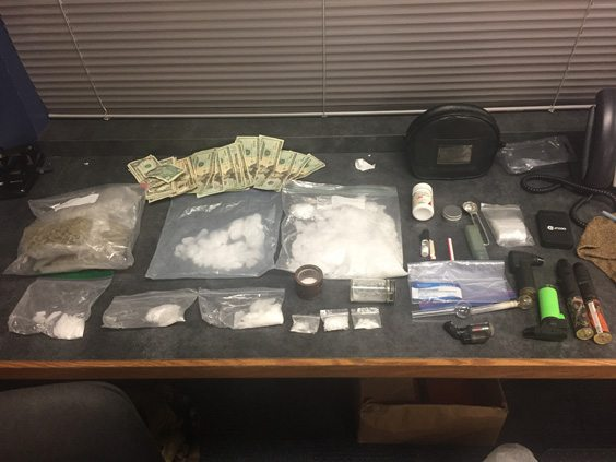 These drugs were seized this morning from Gary Hannold II's backpack, according to sheriff's deputies