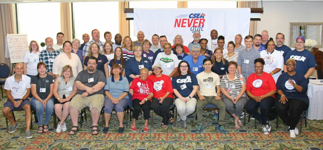 Submitted photo: Members of the CSEA Never Quit team blanketed the four corners of Chautauqua County this past week in an effort to mobilize and strengthen the union.