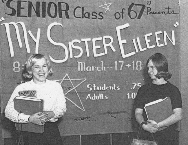 "Submitted Photo Swedish exchange student Elisabeth ""Pia"" Dahl (left) spent a year as a member of the Dunkirk High School Class of 1967. She is pictured with her American sister, Sarah McCroskey."