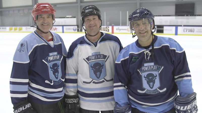 Submitted Photo: 11-Day Power Play participants, from left: Mike Lesakowski, Class of '94; Chris Boron, Class of '95; and David Kaplan, all of whom attended SUNY Fredonia.