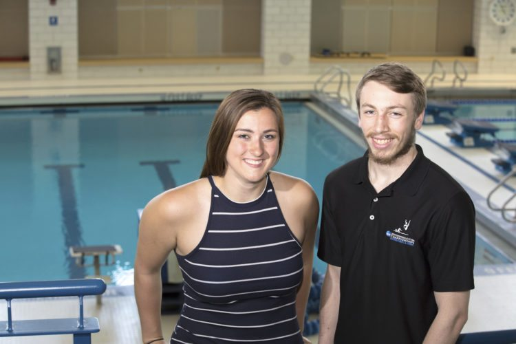 Divers Meghan Bartlett and Arron Carlson