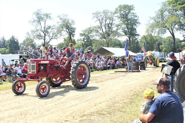 OBSERVERPhoto by Jordan W. Patterson The tractor pull was a big draw for this year's Stockton Antique Equipment Show.