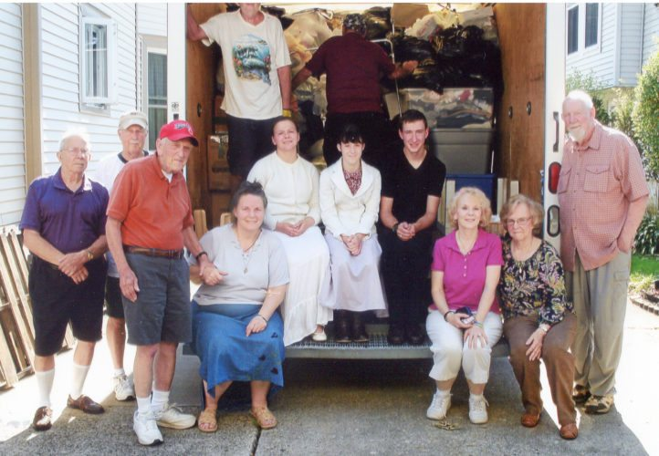 Submitted Photo Volunteers who helped load the Zon truck with items for the poor in Nicaragua, left to right: Paul Snyder, Richard Garrett, Rodney Houck, Janice Jung, Laura Jung, Patricia Jung, Michael Jung, Julie Root, Rita Moriarity and John Ruska. On the truck: Charlie Clark and Bob Lockwood.