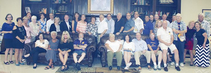 """Submitted Photo Pictured are members of the Cardinal Mindszenty High School Class of 1967 celebrating their 50th class reunion Saturday, Aug. 8 at the Clarion Hotel. """"True friends are never apart — maybe in distance but never in heart."""""""