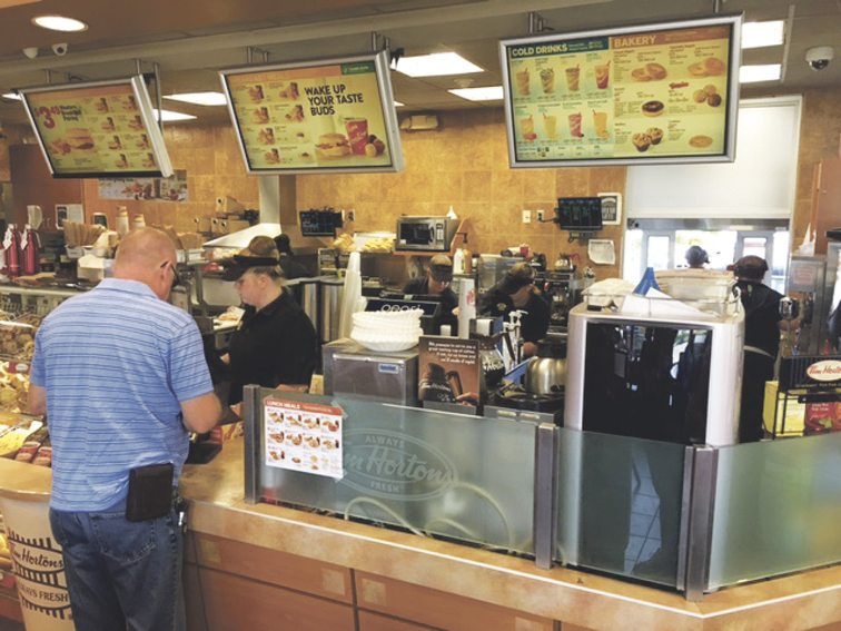 OBSERVER Photo Each day, Randy J. Cimino stopped by the Tim Hortons on Lake Shore Drive East in Dunkirk.