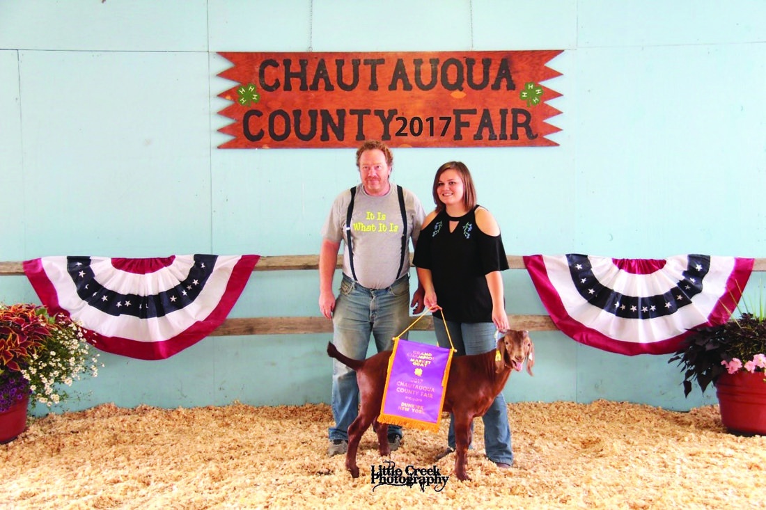 Rachael Harper raised both the grand and reserve market chickens. The grand champion pair was purchased by HLW Acres.
