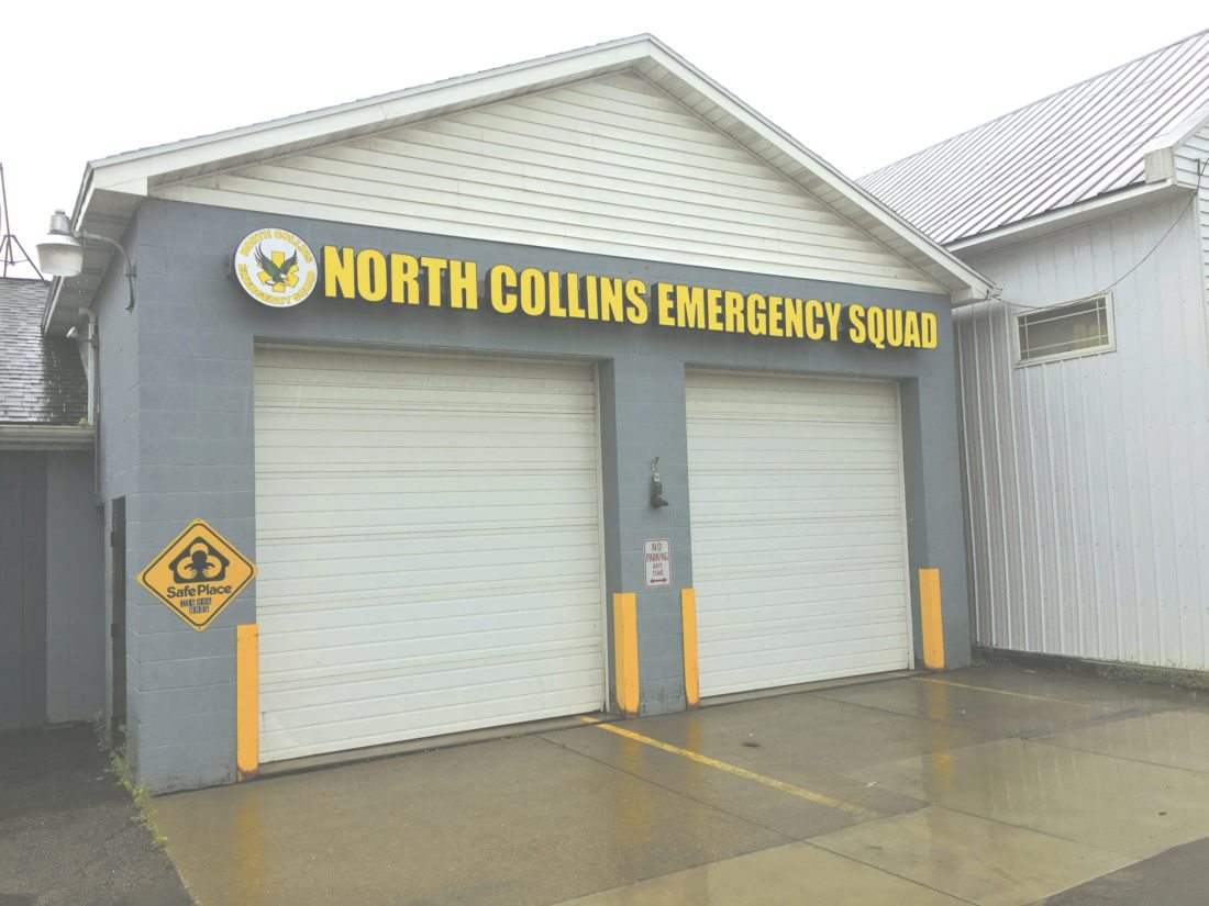 OBSERVER Photo by Andrew David Kuczkowski. The North Collins Emergency Squad is down to 13 members and dropped 50 calls in 2016. Town Supervisor John Tobia asks the town to step up before a calamity occurs, not after.