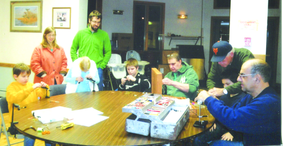 OBSERVER Photo by Gene Pauszek: Free fly tying courses resume on Monday at the Northern Chautauqua Conservation Club and Tuesday at the Costello Community Room (P84)at SUNY Fredonia. All equipment and materials are provided.