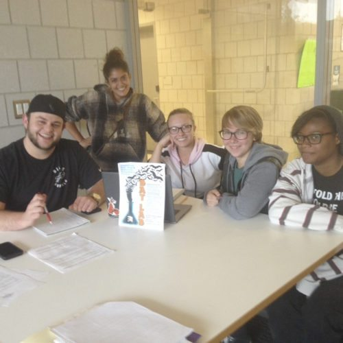 Submitted Photo: These SUNY Fredonia students are getting ready for the bat lab. Pictured from left: Jake Jablonski (business major), Sandi Emke (grad school biology major), Jennifer Able (biology major), Claudia White (environmental sciences major, GIS minor) and PJ Jennings (environmental science major, visual arts & new media minor).