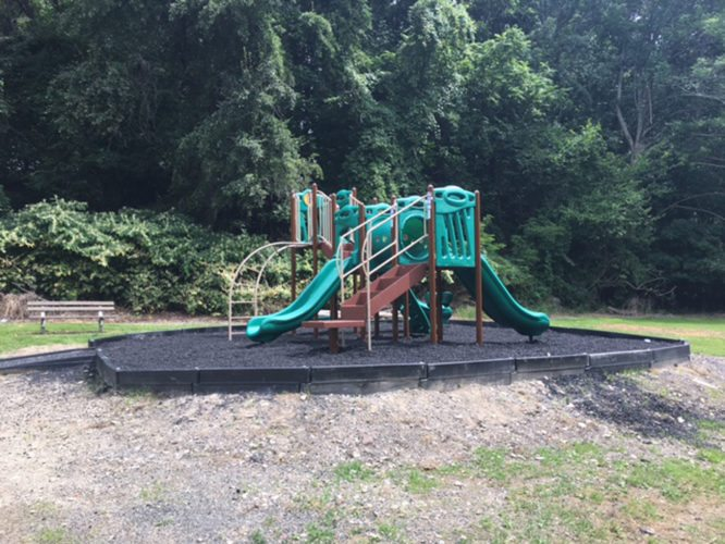 OBSERVER Photo Lower Russell Joy Park in Fredonia boasts a new playground after an apparent arson resulted in the loss of the previous one.