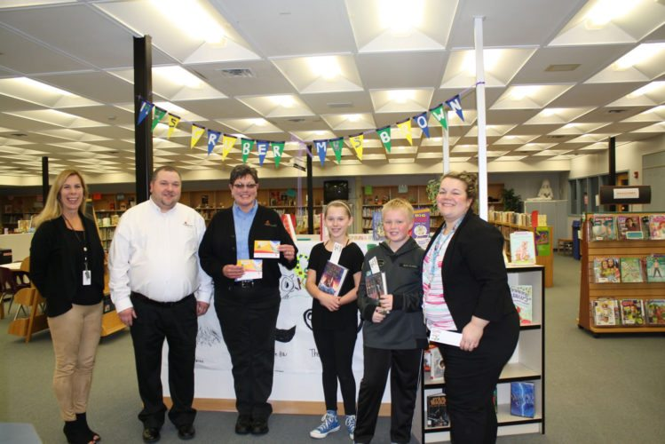 "Submitted Photo: The Fredonia Applebee's restaurant teamed up with Fredonia Central Elementary School to help reward ""Leader Readers"" in grades kindergarten through fourth grade during the 2016-2017 school year. Students received meal coupons for accomplishing library assignments and completing reading goals. Pictured (left to right) are Fredonia Elementary Principal Amy Piper, Fredonia Applebee's Managers Matthew Cobbe and Karen Spoon, former fourth-grade multi-million-word readers Ava Hartung and Collin Crowell (currently fifth graders) and School Librarian Liz Gruber. Applebee's presented Mrs. Gruber with a generous donation of meal coupon bookmarks. ""Readers are definitely leaders at our school!"" exclaimed Mrs. Gruber."