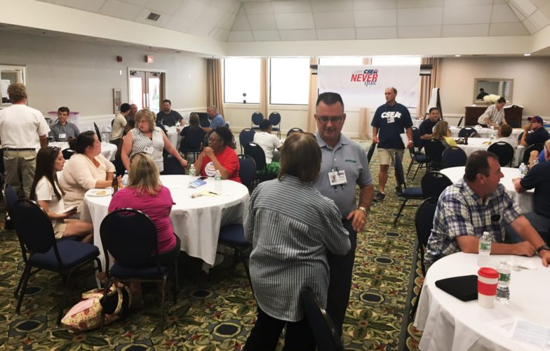 Submitted photo: CSEA had an information session for a week in August and focused on its efforts to defeat the convention vote.