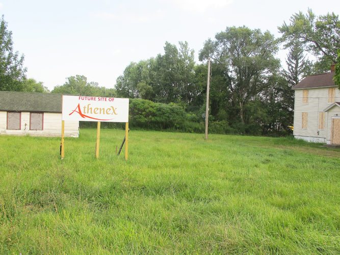 OBSERVERFile Photo: Ground breaking on the Athenex location has been delayed until the first of the year. However, activity continues at the location to prepare for the ground breaking.