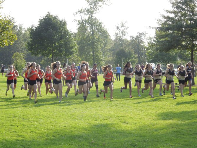 Submitted photo: This is the opening of the high school girls cross country race held at Point Gratiot on Tuesday.