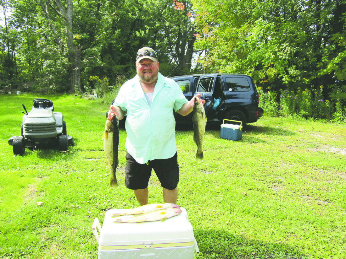Photo by Gene Pauszek Dave Crouse, from Buffalo, enjoyed some walleye action recently fishing with the columnist.