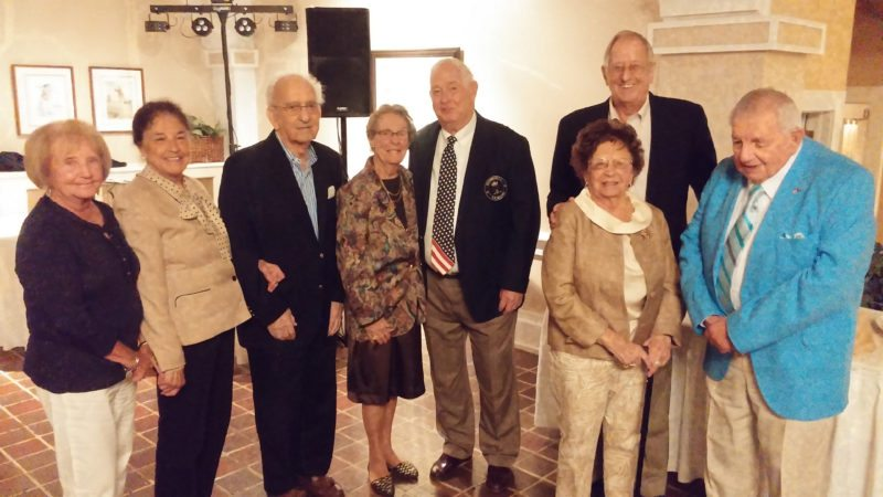 Submitted Photo The 63rd Annual H.K. Williams Tournament was held Sept. 1-3. During the awards ceremony, Shorewood Country Club honored its 50-year members. Living members, shown in the photo, are Rosemary Hayes (67 years), Pat Wheelock (64 years), Joe Castiglia (61 years), Marian Passafaro (59 years), Dan Putnam (55 years), Janet McClenathan (55 years), Frank Guarnati (53 years), Rose Spacc (53 years),  Bob Coon (51 years),  Mike Bruenez (51 years) and Roland Mahany (51 years). Other 50-year members who have passed away are Bruce Ritenberg II (80 years), Ed Orcutt (63 years), K. Williams II (50 years), Vic Jonus (50 years) and Bill Warmbroth (50 years).