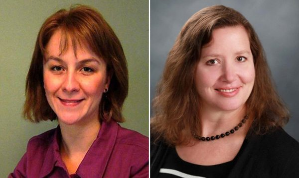 Submitted Photo Pictured are JCC Professor Traci Langworthy, left, and Dr. Shannon Risk of Niagara University.