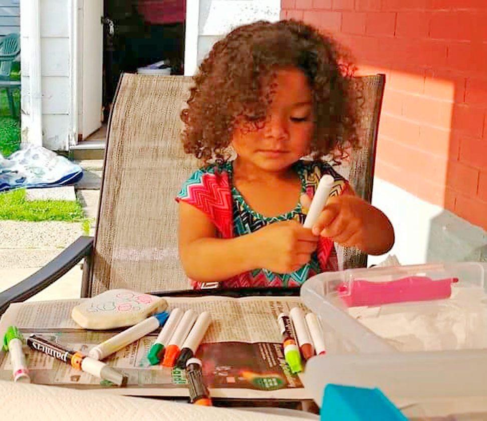 Jazy-Belle, 3, makes #DunkirkRocks.
