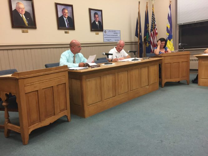 OBSERVER photo by Jimmy McCarthy The Fredonia Village Board was without legal counsel during its Monday meeting. Fredonia Mayor Athanasia Landis said her hope is to have someone approved in October.