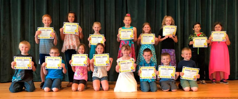 On Wednesday, Sept. 27, Brocton Elementary School celebrated its character education assembly. Sixteen students were chosen as Students of the Month representing grades Kindergarten through 5. These students demonstrated the character trait of Responsibility on a daily basis. The following students were chosen as Students of the Month for September:  Row 1, left to right: Robert Head, Timothy Bundy, Paige Miller, Henrietta Campbell, Mary Jane Green, Jason Latimer, Joshua Lanski, Neil Bundy Row 2, left to right: Colden Noody, Madison Sears, Lauren Jagoda, Zoe Spiller, Colie Bundy, Izabelle Abbey, Konner Willingham, Gabriella Waclawski
