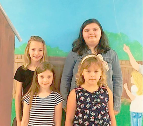 Submitted Photo Pictured are the Forestville Central Elementary School Students of the Month, as selected by their classroom teachers. They are positive role models for their peers in the classroom, follow school rules, are polite and friendly, and are hard workers that never give up — even when the work is difficult. Front row: First grader Brenna Valentine; kindergartener Julianna Wieczorek. Back row: Fifth grader Jade Work; sixth grader Jeda Huntoon.