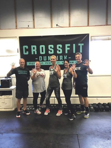 Submitted Photos Crossfit Dunkirk once again participated in a worldwide fundraiser Saturday to raise awareness for autism. The five-minute workout is part of the Give 5 initiative, designed for people to give five minutes of their time to help those with autism. Pictured above are a few of the participants at Saturday's event at the Dunkirk location.