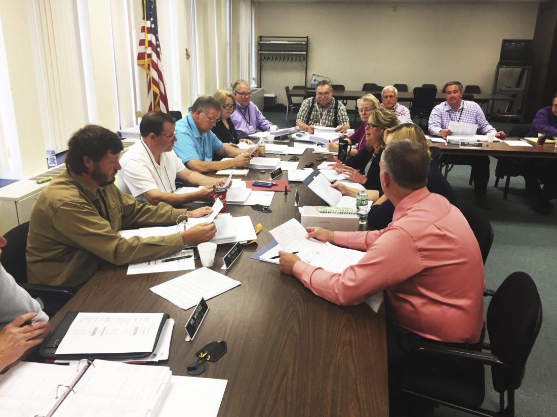 OBSERVERPhoto by Jimmy McCarthy County legislators met with Health and Human Services' administrators Wednesday morning for a budget discussion. Increases within the department's budget come from child welfare expenses, according to department leaders.