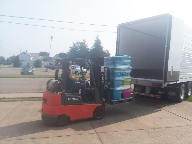 Submitted Photo Donated goods for Texas and Florida were recently collected throughout Chautauqua County.