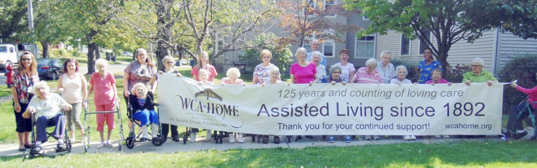 Submitted Photos Top: The WCA Home in Fredonia will celebrate 125 years on Oct. 15. Above: Alice Albro Meyer of Pittsburgh. Her ancestors were Fredonia women who founded the WCA Home for Aged Women.