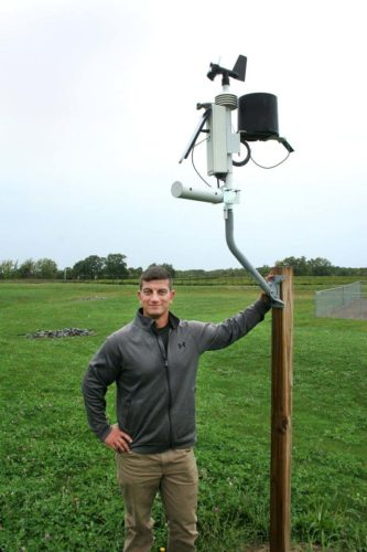 Submitted Photo: Vincent Kane with the NEWA station at the Cornell Lake Erie Research and Extension Laboratory in Portland.