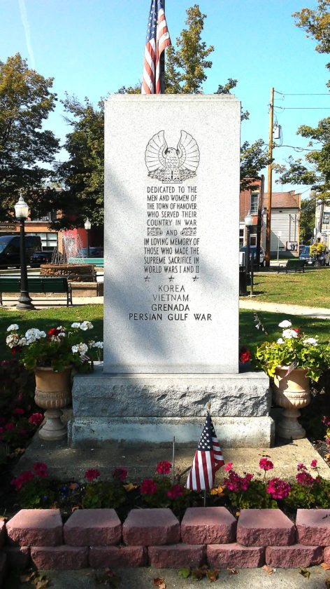 OBSERVER Photo by Damian Sebouhian The war monument at Silver Creek's Village Park. The Silver Creek Hanover Garden Club recently received permission from the village to add two more engravings to the monument memorializing the Afghanistan and Iraq wars.