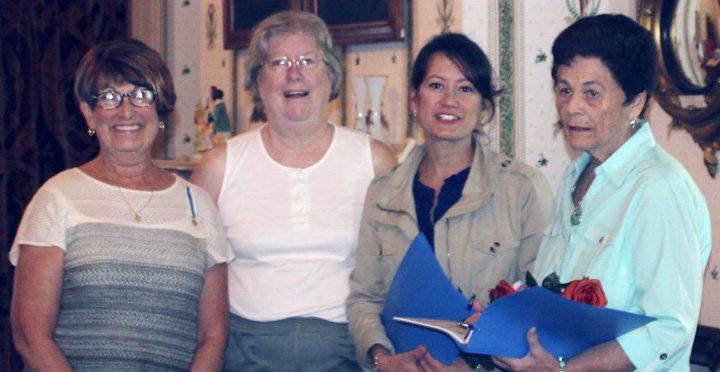 Submitted Photo: From left: Brenda Johnson, Regent Benjamin Prescott Chapter NSDAR, Lisa Sedlmayer, Chaplain Benjamin Prescott Chapter NSDAR, Emily Mongillo and her mother, Katherine Thies, new members of the Benjamin Prescott Chapter NSDAR.