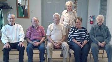 Submitted Photo Silver Creek Seniors celebrated September and October birtdays of its members. Sated from left to right: Ed Prowse, Carl Mohart, Joe Ark, Sue Borowski and Joanne Martin. Standing Lorraine Bailey. Missing from photo is Pat Smielinski.