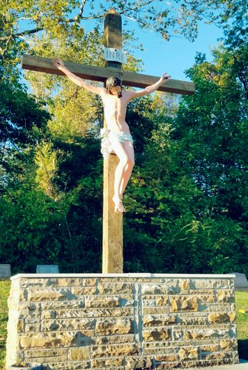 Submitted Photos The crucifix at Holy Cross Cemetery in Gowanda recently received a new facelift by the efforts of St. Joseph's Church Knights of Columbus Msgr. David Gernatt Council and parishoners. A new wooden cross was constructed and the image of Jesus was beautifully refinished. For more information on becoming a Knight or about St. Joseph's Church in Gowanda, please call 532-5100.  All are welcome! St. Joe's will host a Community Meal. All are welcome to the event, which will take place Saturday, Oct. 21 from 4-6 p.m. at 26 Erie Ave., Gowanda. Roast beef sandwiches, cheesy potatoes, green beans, dessert and drinks will be served. There is no cost to the event.