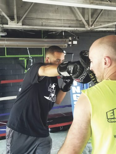 """OBSERVERPhoto by Jared Hill Ivan """"The Hurricane"""" Hernandez close up, training at Elevation Combat Sports Academy."""