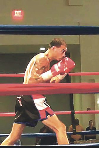 """Submitted Photo Dunkirk native Wilfredo """"El Bravo"""" Vega Flores, in a professional boxing match against Alden Wattley, Oct. 7 in Erie, Pa."""