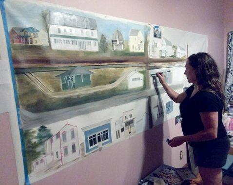 Artist Melissa Dorzweiler exhibits attention to detail.